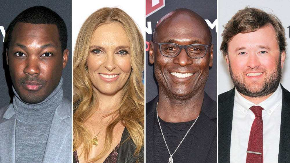 From left to right, Corey Hawkins, Toni Collette, Lance Reddick, and Haley Joel Osment