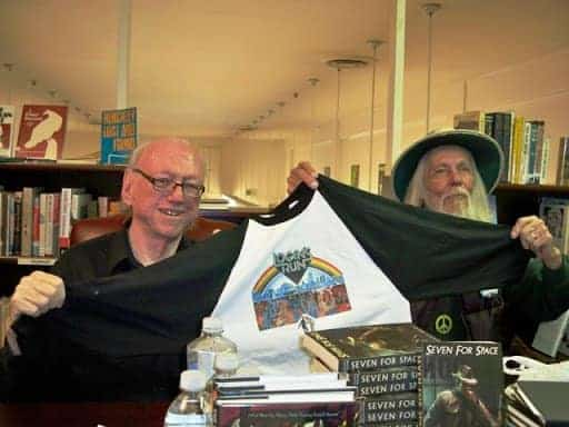 Authors Nolan and Johnson, from left to right